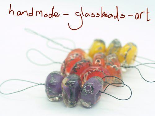 handmade glass bead sets