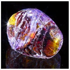 emubeads-handmade-glass beads-with metal-topaz
